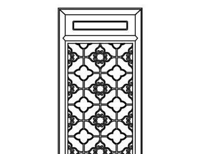 茶楼装修中式隔断仿古花窗实木雕花挂件