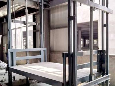 登封链条导轨式液压升降货梯,升降货梯厂家