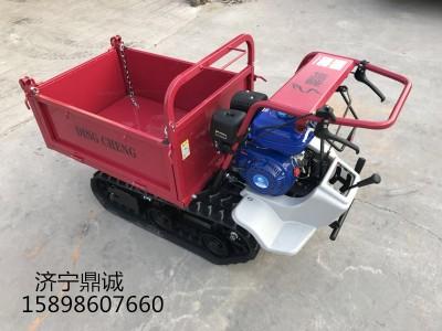 柴油履带式山地运输车液压自卸履带翻斗车自走式农用运输车