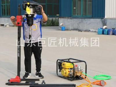 山东巨匠供应30米地质勘探钻机立架背包钻机使用方便