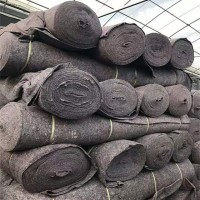 土工布黑心棉毛毡公路养护路面保湿毯家具包装大棚保温防寒棉被毯