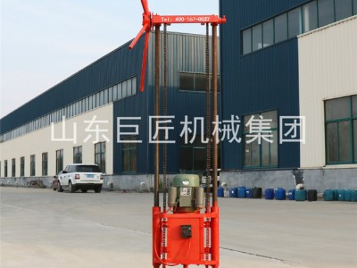 巨匠QZ-1A地质勘探岩芯取样地表钻机回转立架式浅孔钻机