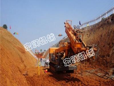 护坡专用机械  边坡支护打孔钻机厂家 锚固钻机