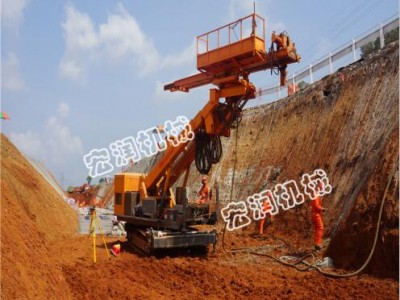 地基护坡锚固钻机  边坡支护工程锚杆钻机最深能打几米