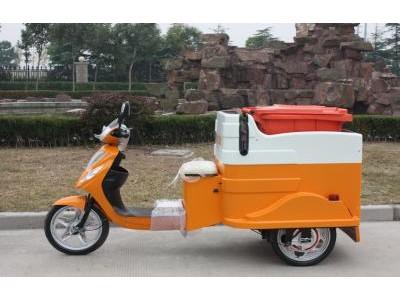 玛西尔三轮挂桶车、环卫车、街道、社区清理车
