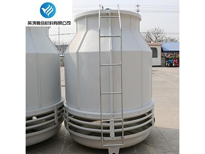 厂家供应陕西地区圆形冷却塔低噪音型冷却10逆流冷却塔玻璃钢