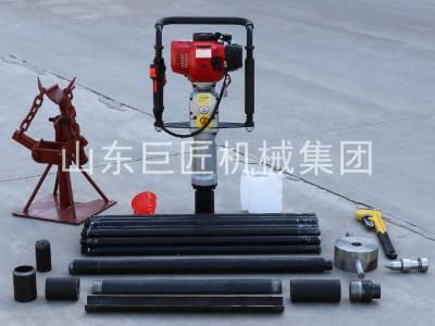 热销20米取土钻机小型地质勘探钻机QTZ-3野外轻便取土样器