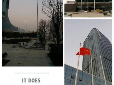 宁国市不锈钢旗杆 锥形旗杆定做 旗杆安装 旗杆维修