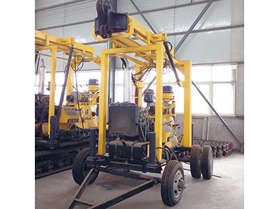600米液压水井钻机 轮式牵引液压钻机 液压岩心钻机
