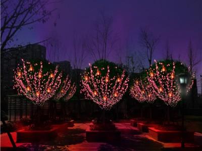 七彩琉璃梦幻灯光节厂家极具穿透力万珠灯光
