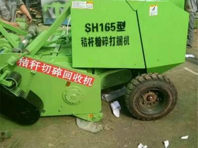 玉米秆收割青储捆扎机 牵引式皇竹草打捆打包机