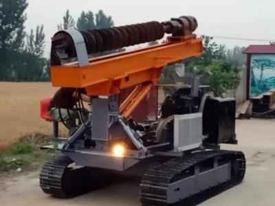 厂家直销工程专用履带式光伏打桩机 长螺旋多功能打钻一体机