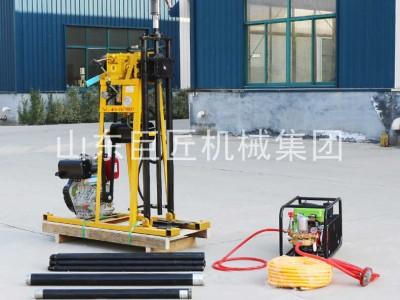 集团直供小型轻便液压百米钻50米岩心勘探取样钻机柴油机动力