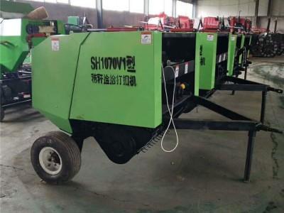 旺农小型多功能玉米秸秆打捆机 牵引式打捆打包机