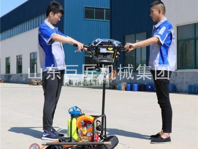 巨匠供应双人背包钻 机进口动力汽油机 浅层岩石勘探钻机轻便