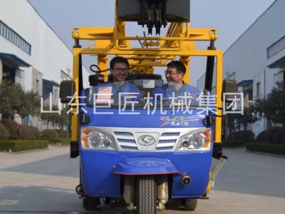 巨匠三輪車液壓鉆機勘探巖心鉆機22hp柴油機移動方便
