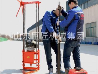 巨匠集團提供QZ-2C型小型鉆探設備抽心取樣鉆機移動方便