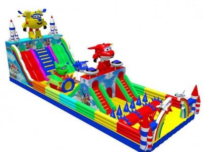 儿童充气城堡蹦床滑梯公园游乐场户外充气城堡带滑梯