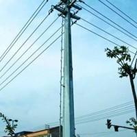 电力双回路终端钢杆 15米终端钢杆 益瑞