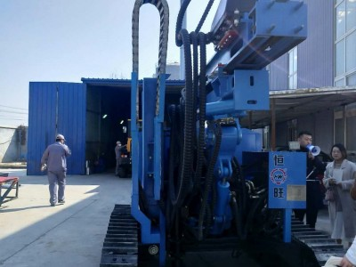 厂家直销多功能履带式液压打桩机 多功能履带式液压打桩机厂家