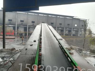 米厂悬挂多点卸料输送线 皮带流水线 快递装车输送机