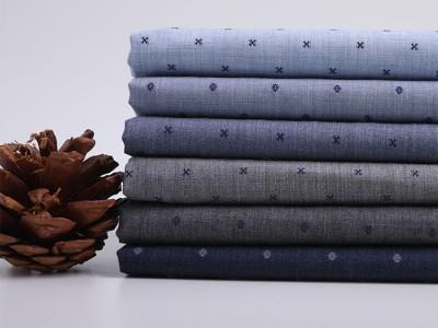 上海汇纺纺织提花面料全棉液氨免烫衬衫面料厂家直销