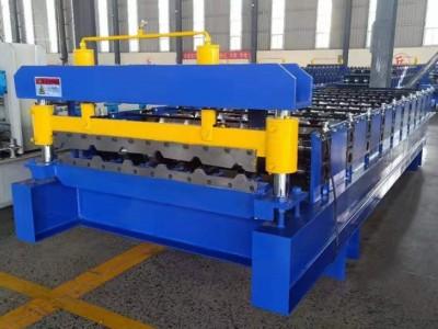 840全自动屋顶板彩钢板实心轴压瓦机840彩钢机械