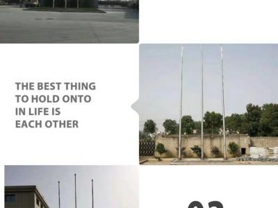 宿迁市学校电动旗杆,宿迁市内置304材质钢丝绳旗杆