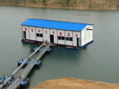 取水泵船摇臂式设计方案找湖南中大泵业专业制造