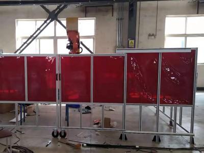 鋁型材車間隔離網定制 透明防護屏定制