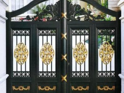 武安市庭院欧式大门铝艺阳台护栏表面处理
