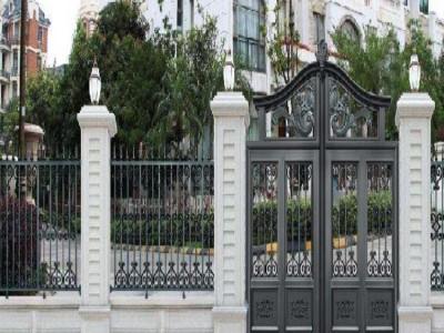 河北平山县欧式铸铝大门围墙栏杆为你详解