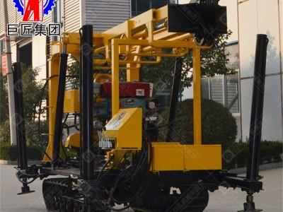 山东巨匠履带式打井机 XYD-130液压水井钻机全自动钻井机