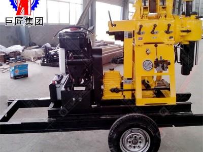 巨匠供应轮式打井机械200米打深水井钻井设备大型水井钻机