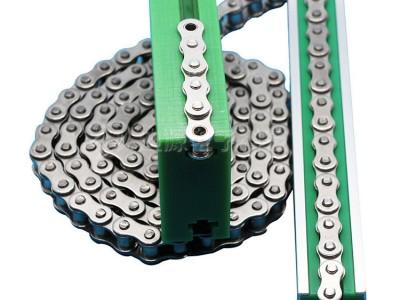 万群橡胶链条导轨_超高分子量聚乙烯耐磨条链条导轨聚乙烯滑块