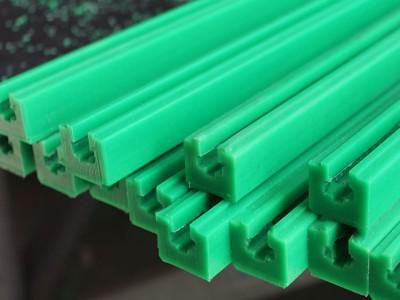 导轨滑块_超高分子量聚乙烯链条导轨绿色upe导轨加工耐磨塑料