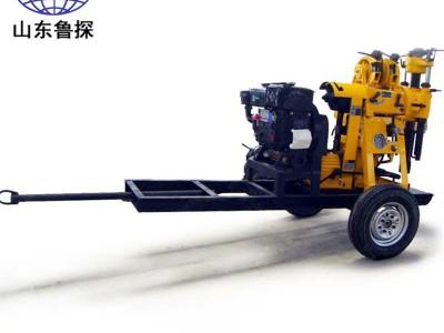 XYX-130轮式液压岩芯钻机 野外勘探打井机配置全