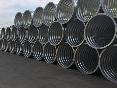 钢波纹管圆形波纹涵管 直径1.5米钢波纹管涵厂家供应