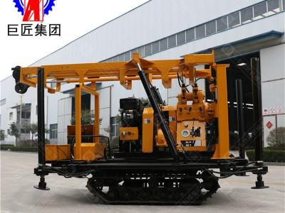 带自动伸缩式钻塔的橡胶钢丝履带液压岩芯钻机 200米勘探设备