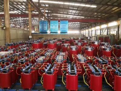 煤改电工程干式变压器正在使用中