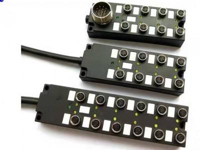 M8總線I/O分線盒分體式帶M23插座19針