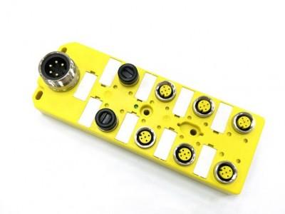 科迎法M12-8口8點分線盒,M23插座12針分線盒