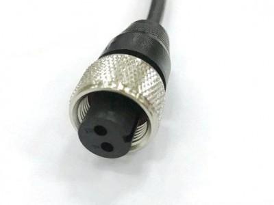 預制M16防水連接器 2芯孔型直頭 M16航空插頭