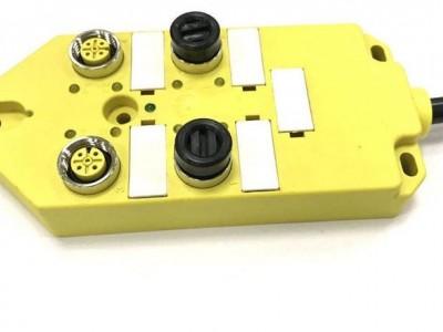 M12分線盒 4口單通道 分體式帶M23-12針插座